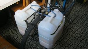 pannier tanks on bike